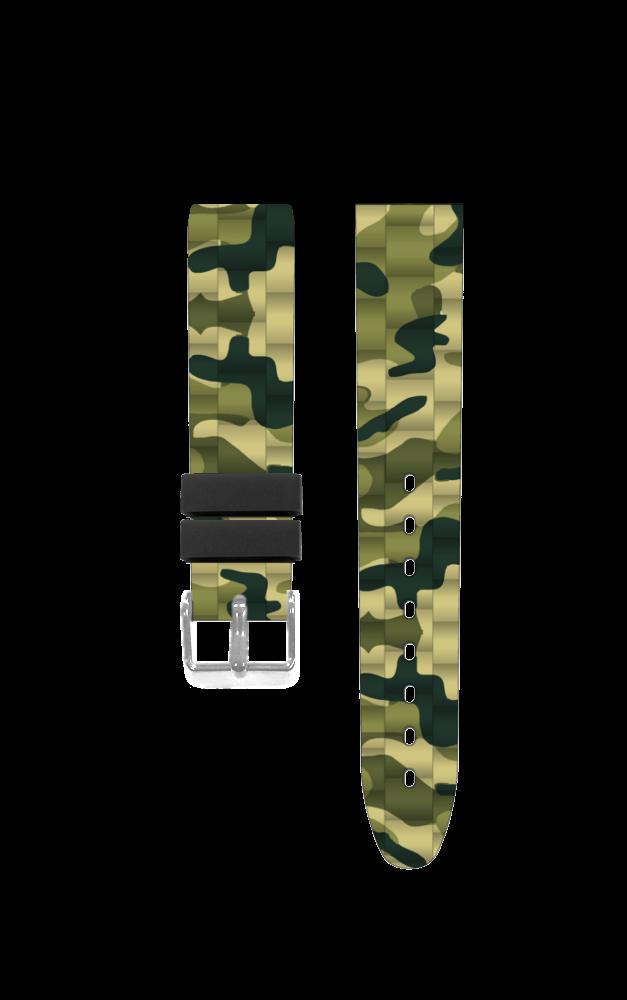 Silikonový maskáčový řemínek k dětským hodinkám CLOCKODILE