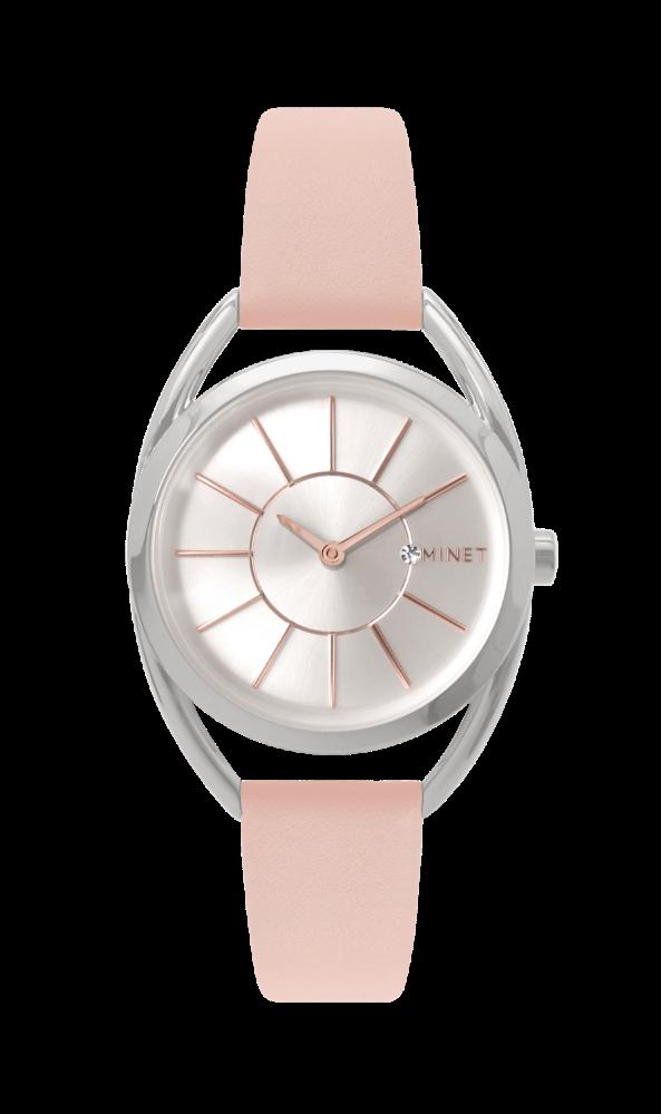 Pudrově růžové dámské hodinky MINET ICON PINK BLUSH