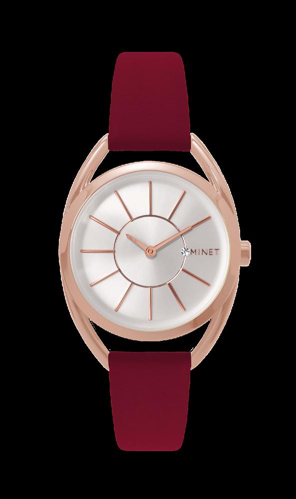 Vínové dámské hodinky MINET ICON PLUM PASSION