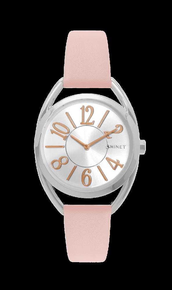 Růžové dámské hodinky MINET ICON TEA ROSE