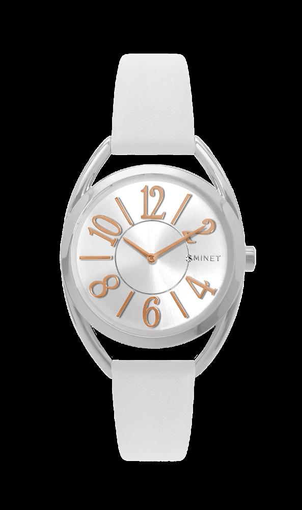 Bílé dámské hodinky MINET ICON SUGAR WHITE
