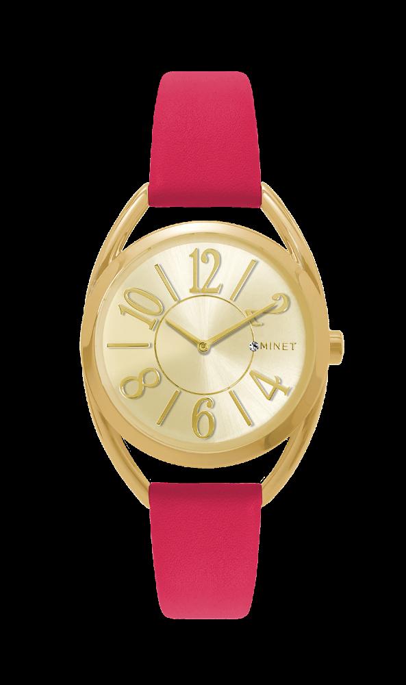 Růžovo-zlaté dámské hodinky MINET ICON POP STAR