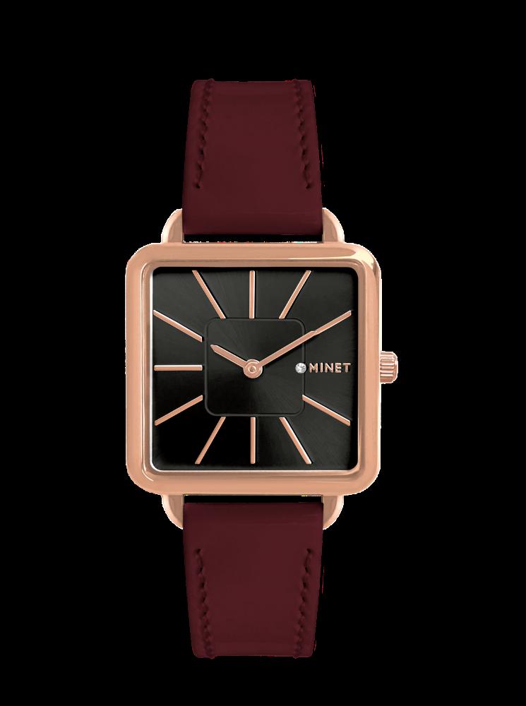 Vínové dámské hodinky MINET OXFORD BORDEAUX SEDUCTION