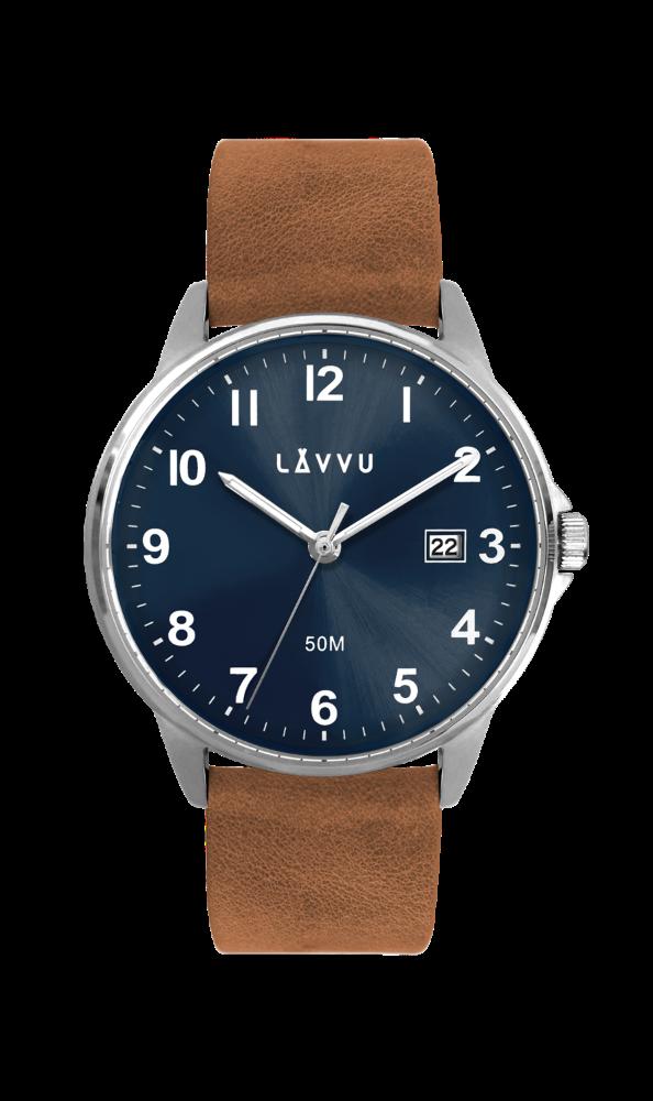 Hnědo-modré hodinky LAVVU GÖTEBORG
