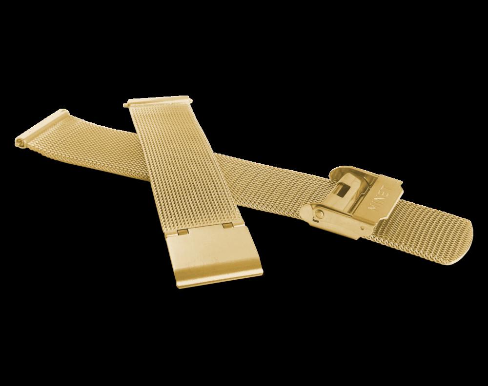 MINET Zlatý kovový tah MINET MESH Band Original Gold - 16 MPSMG16