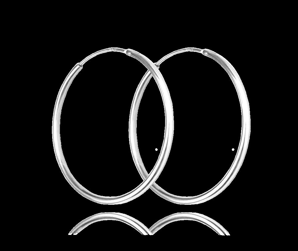 Stříbrné náušnice MINET KRUHY 5 cm