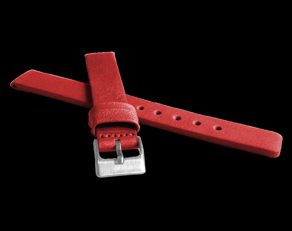 Červený hladký řemínek LAVVU PLAIN z luxusní kůže Top Grain - 14