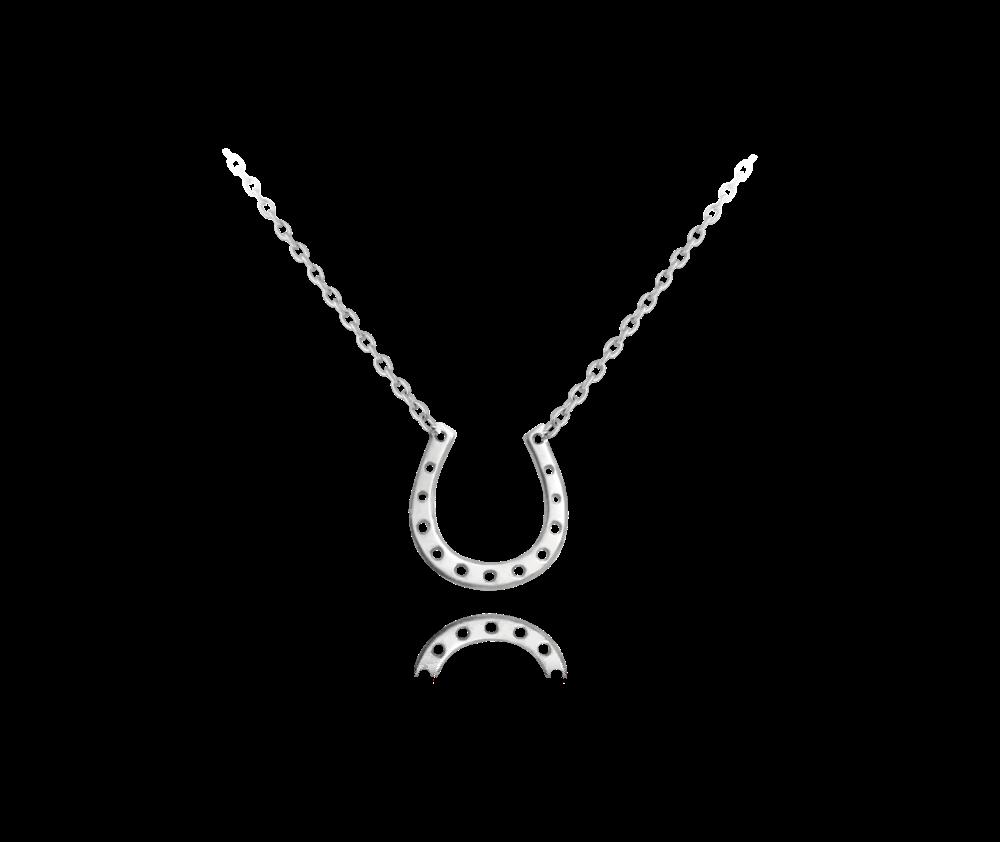 Stříbrný náhrdelník MINET PODKOVA pro štěstí