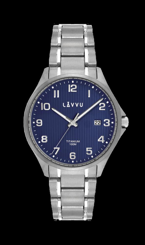 Extrémně lehké titanové hodinky LAVVU TITANIUM LILLEHAMMER Blue