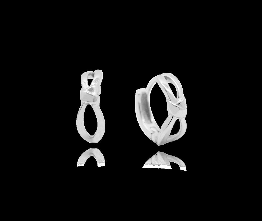 Stříbrné náušnice MINET MAŠLIČKY - kroužky