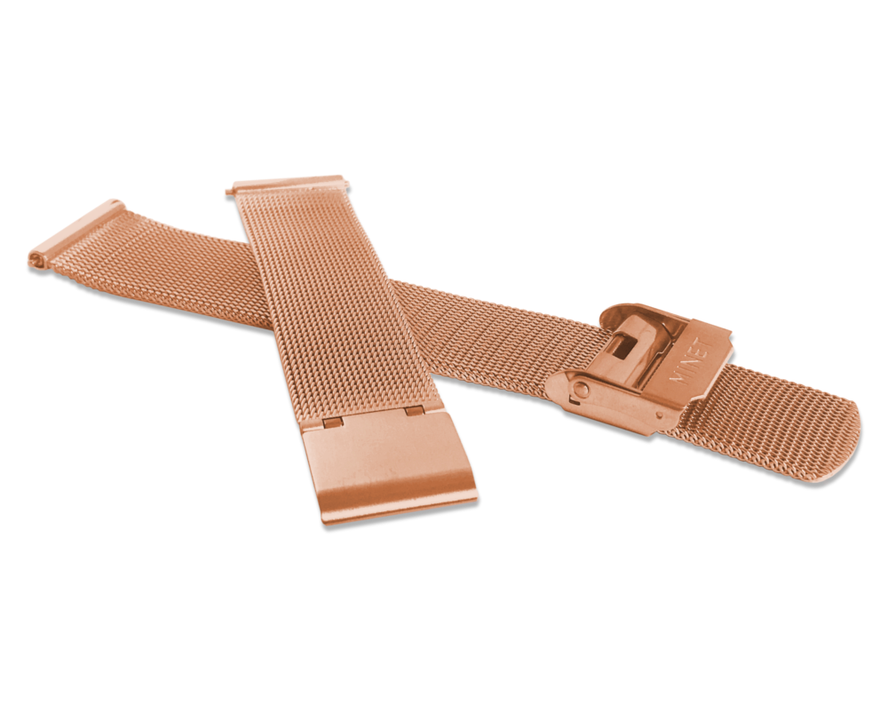 Rose gold kovový tah MINET MESH Band Original Rose Gold - 16