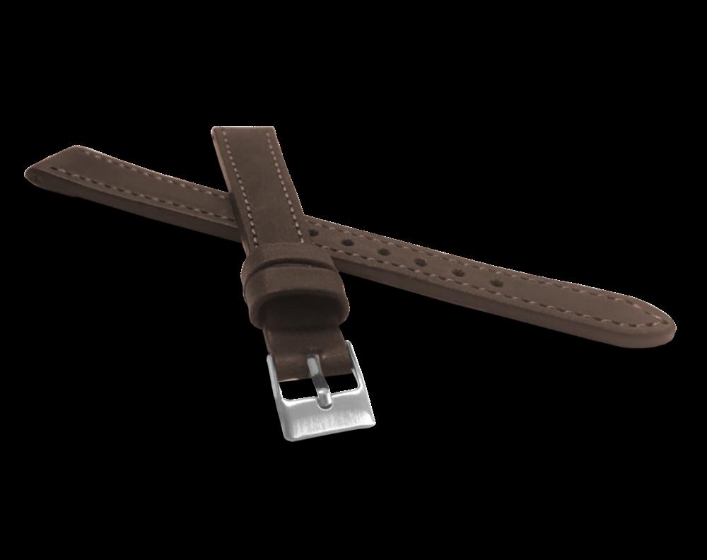 Tmavě hnědý prošitý řemínek LAVVU SPORT z luxusní kůže Top Grain - 12