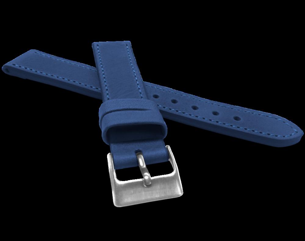 Modrý prošitý řemínek LAVVU SPORT z luxusní kůže Top Grain - 20