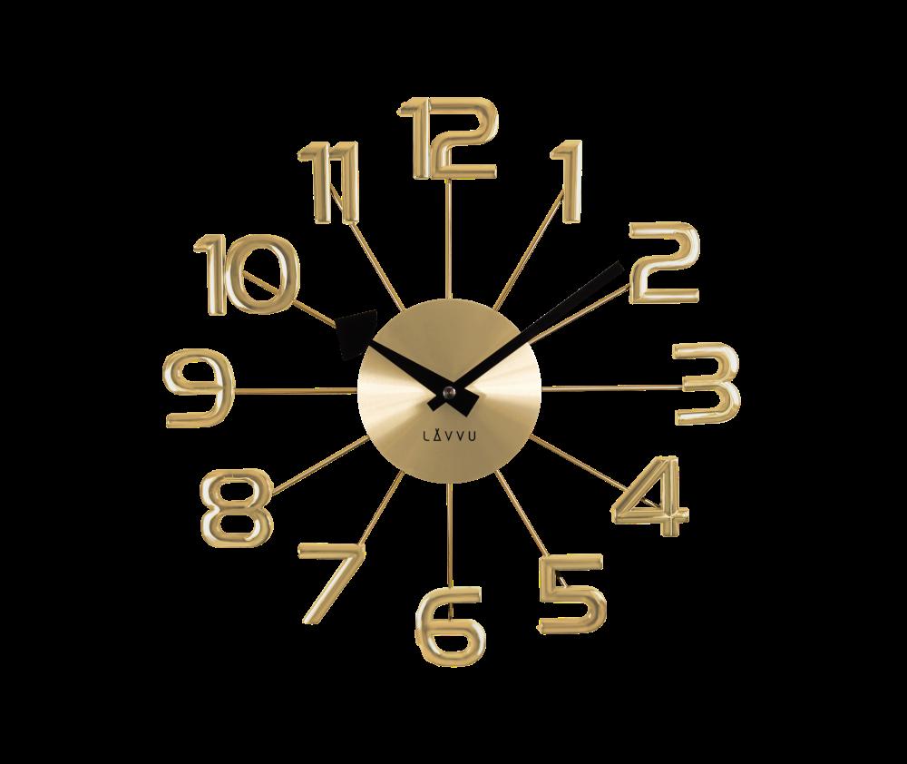 Zlaté hodiny LAVVU DESIGN Numerals