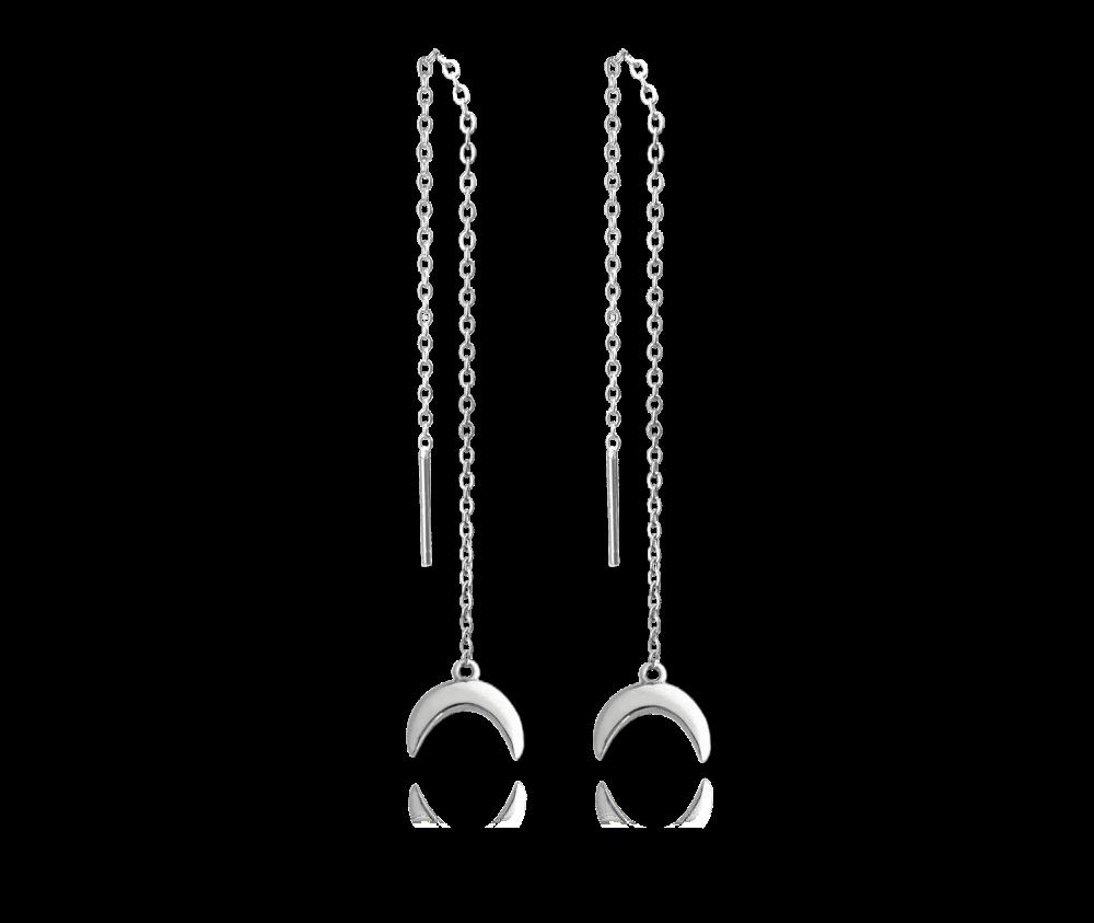 Stříbrné protahovací visací náušnice MINET HORN
