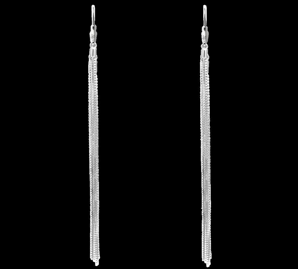 Extra dlouhé stříbrné náušnice MINET
