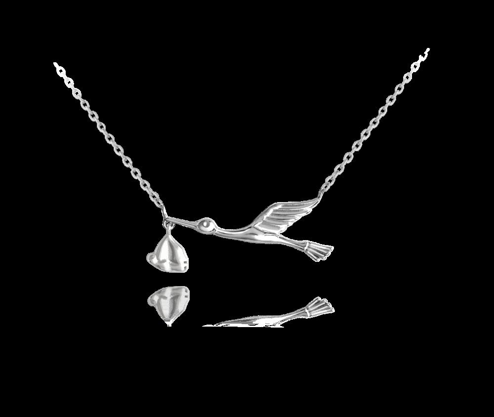 Stříbrný náhrdelník MINET ČÁP s balíčkem