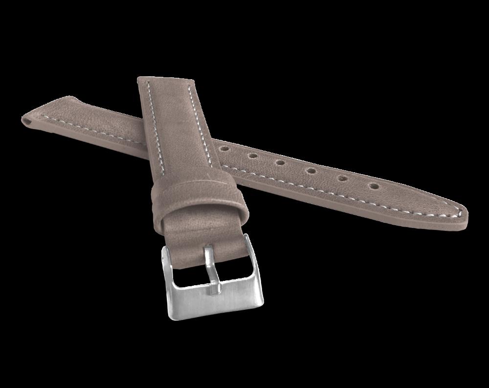 Polstrovaný béžový prošitý řemínek LAVVU CLASSIC z luxusní kůže Top Grain - 20