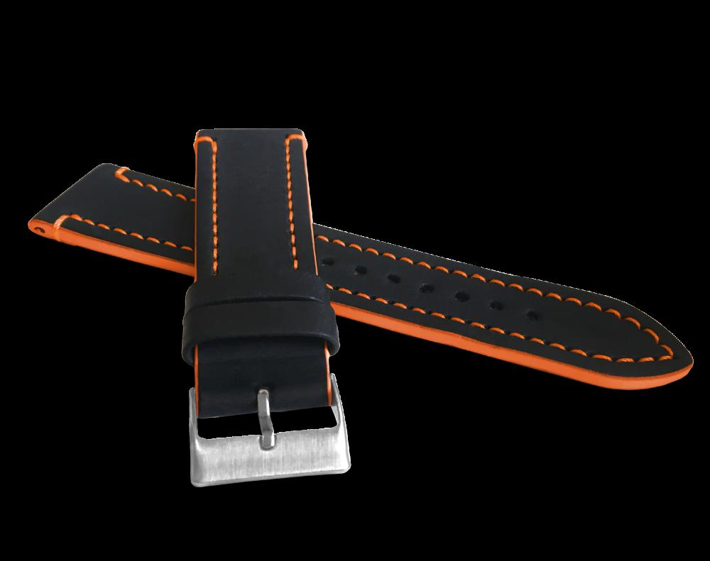Oranžově prošitý řemínek LAVVU TAILOR z luxusní kůže Top Grain - 24
