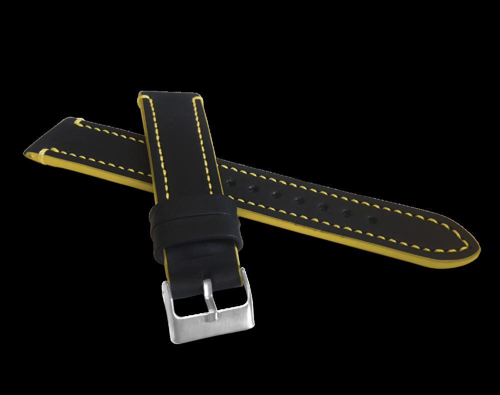 Žlutě prošitý řemínek LAVVU TAILOR z luxusní kůže Top Grain - 20