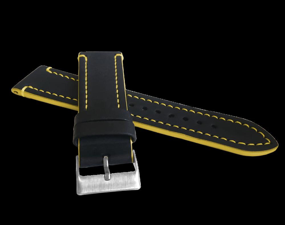 Žlutě prošitý řemínek LAVVU TAILOR z luxusní kůže Top Grain - 22