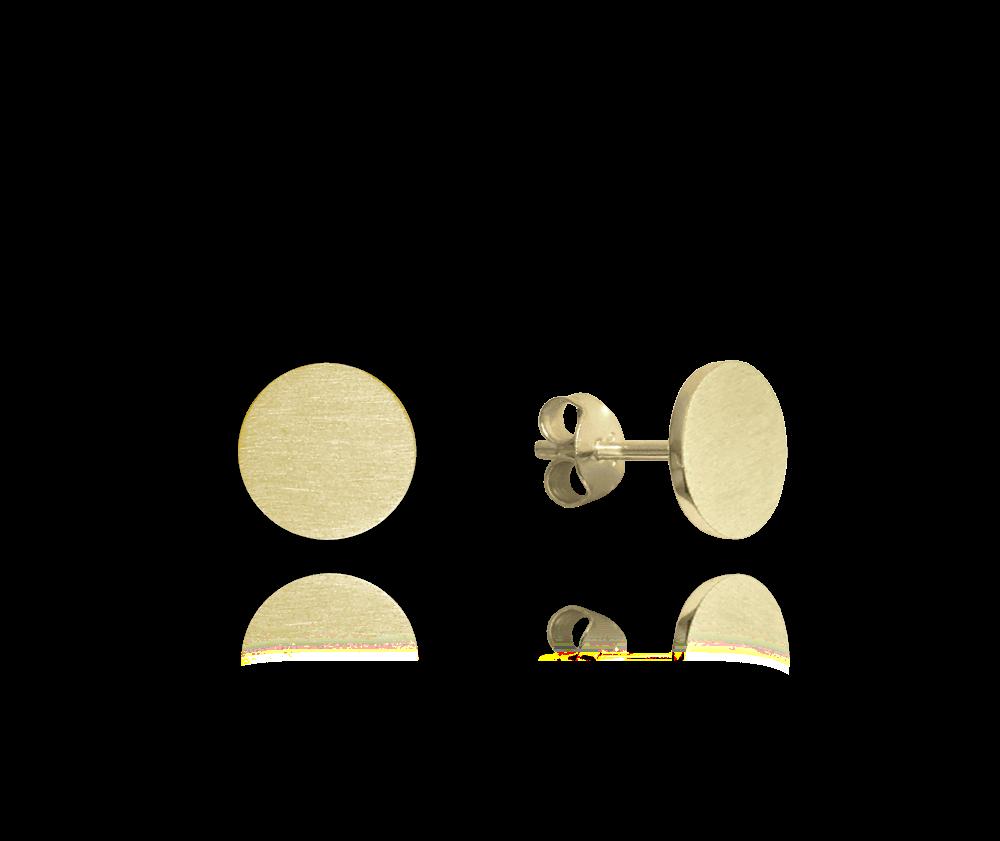 Pozlacené stříbrné náušnice MINET 9 mm