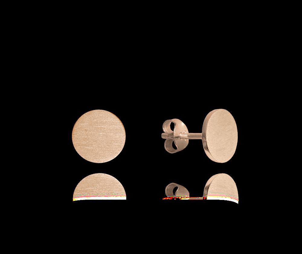 Rose gold stříbrné náušnice MINET 9 mm