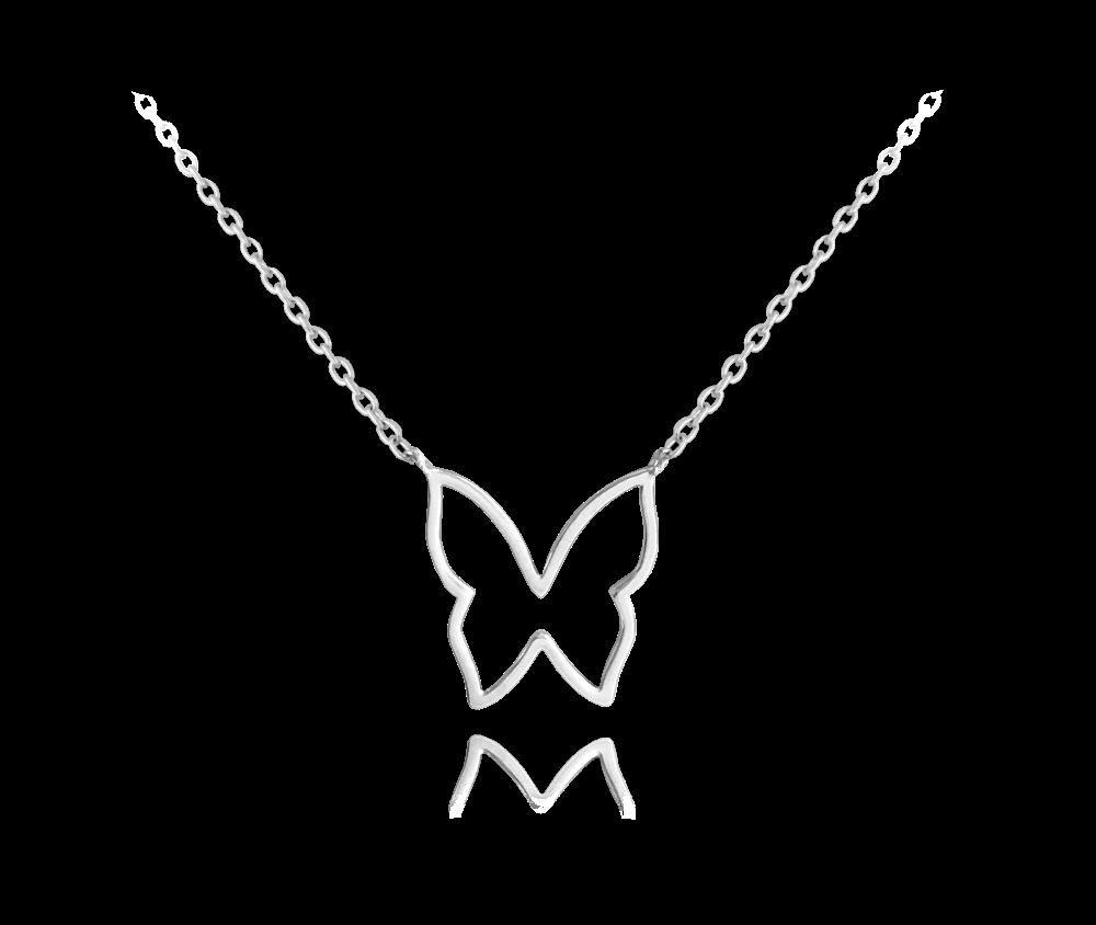 Stříbrný náhrdelník MINET MOTÝL
