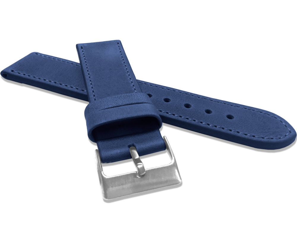 Modrý prošitý řemínek LAVVU SPORT z luxusní kůže Top Grain - 24