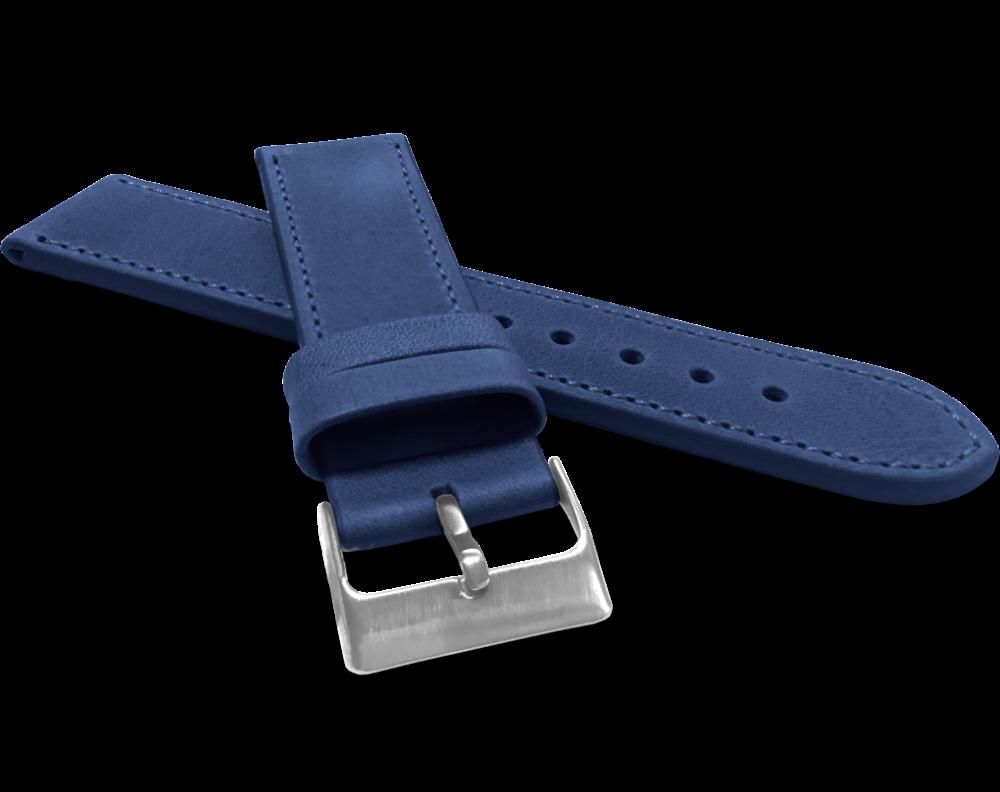 Modrý prošitý řemínek LAVVU SPORT z luxusní kůže Top Grain - 26