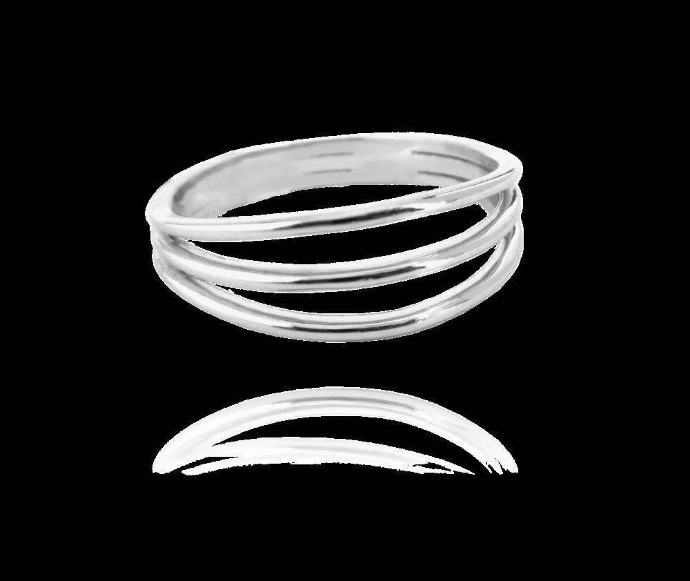 Trojitý stříbrný prsten MINET vel. 58