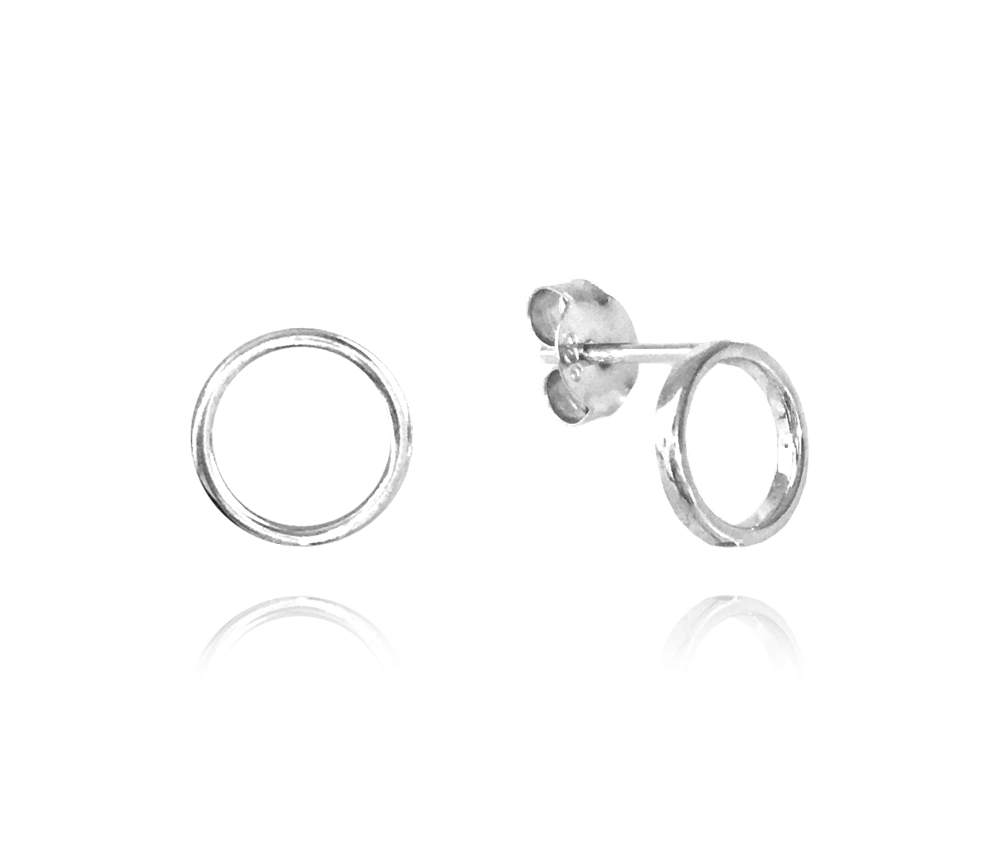 Minimalistické stříbrné náušnice MINET KROUŽKY