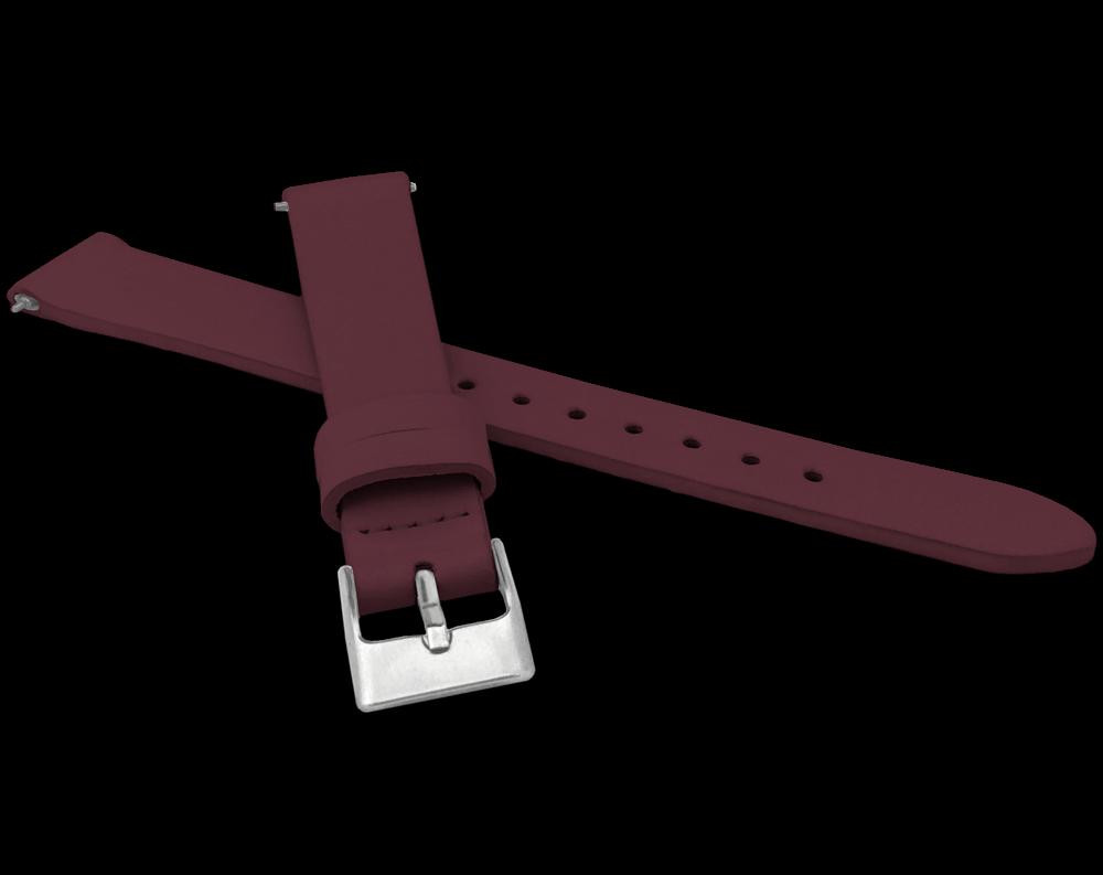 Vínový kožený řemínek s rychloupínací stěžejkou MINET EASY - 16