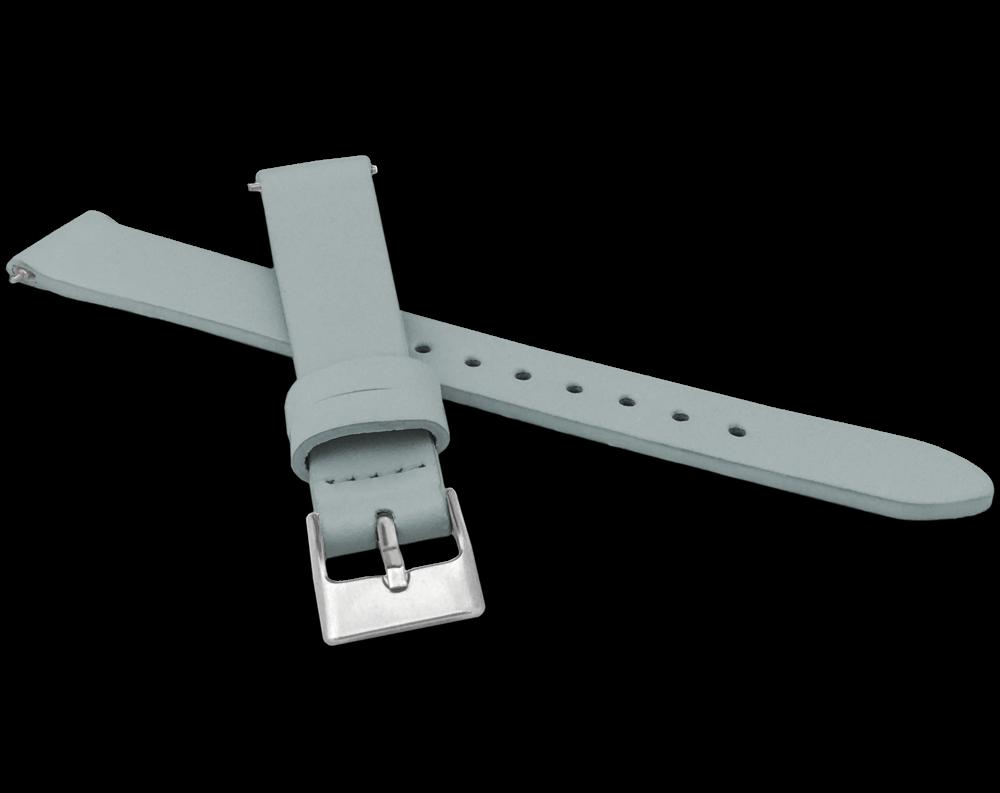 Šedý kožený řemínek s rychloupínací stěžejkou MINET EASY - 14
