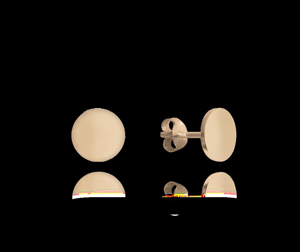 Rose gold lesklé stříbrné náušnice MINET 9 mm