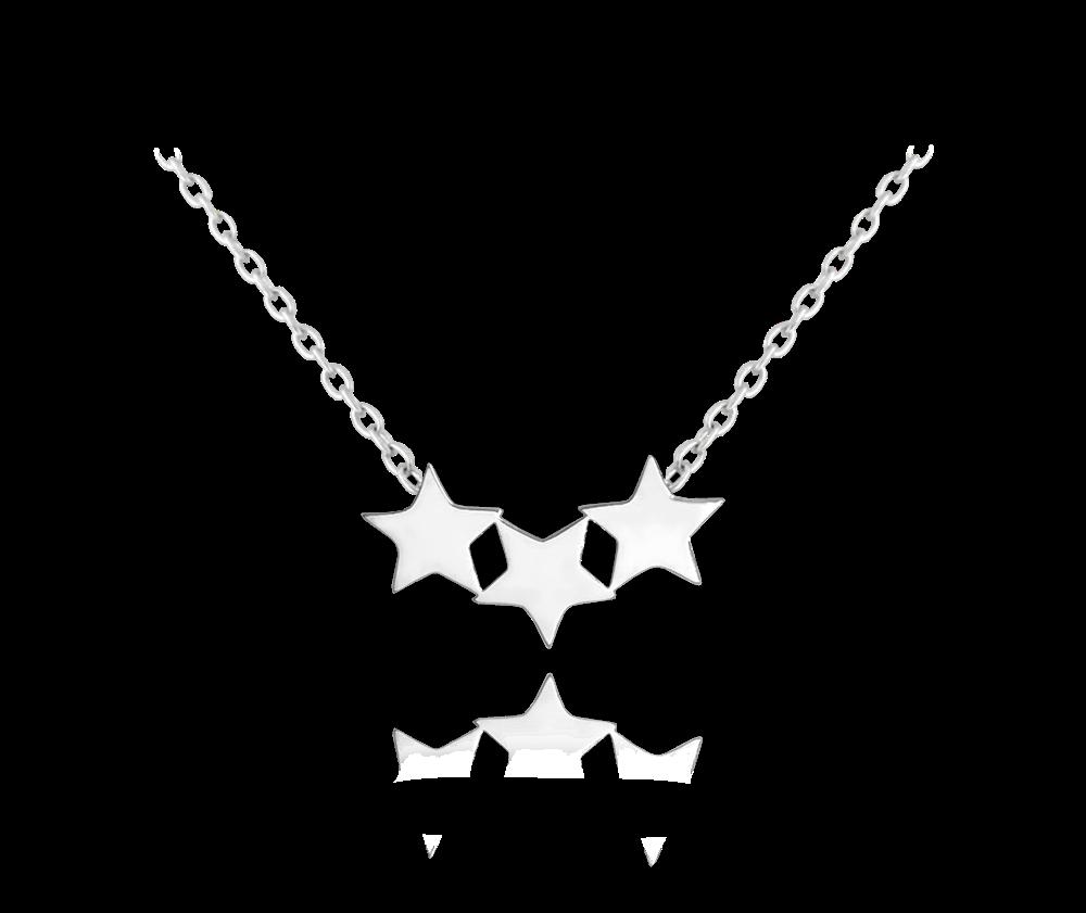 Stříbrný náhrdelník MINET HVĚZDY