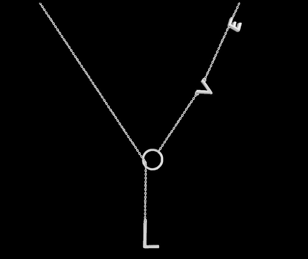 Stříbrný náhrdelník MINET LOVE