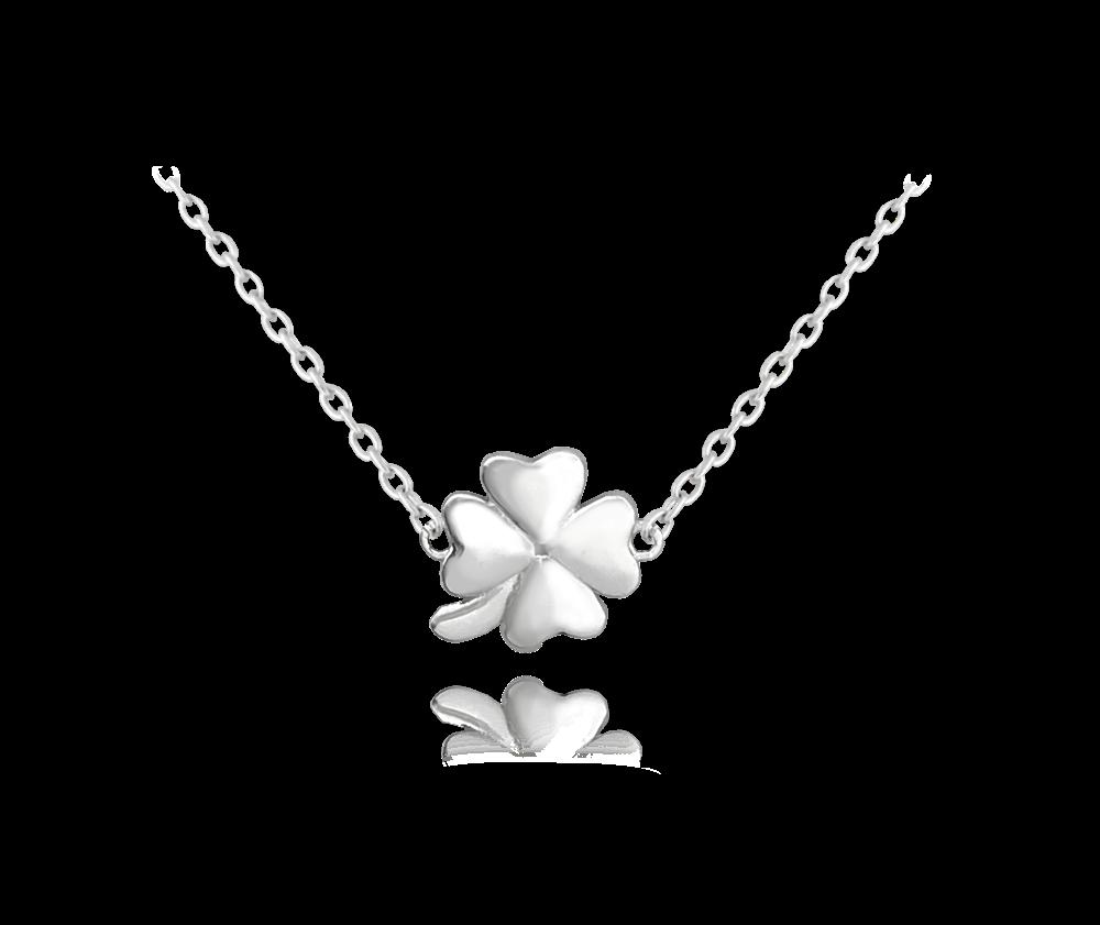 Stříbrný náhrdelník MINET ČTYŘLÍSTEK