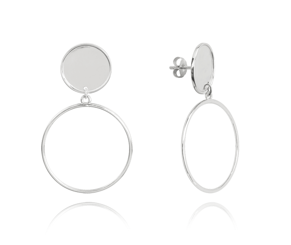 Stříbrné kruhové náušnice MINET