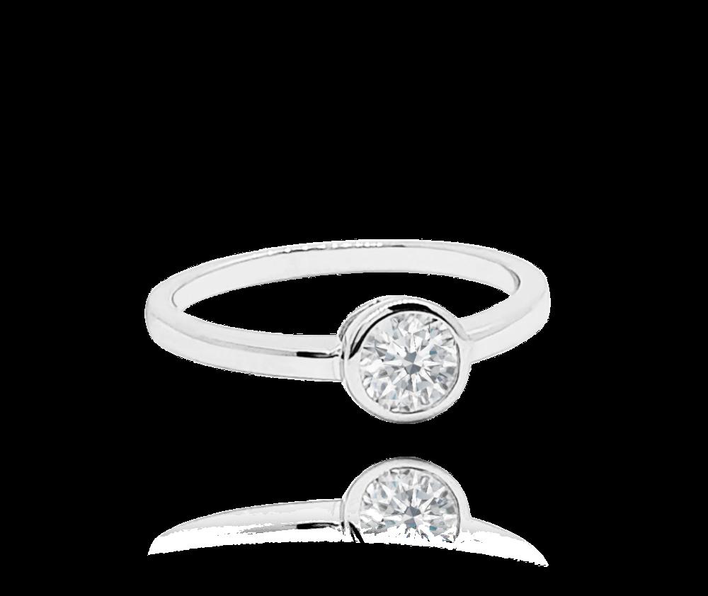 Decentní stříbrný prsten MINET s bílým zirkonem vel. 64