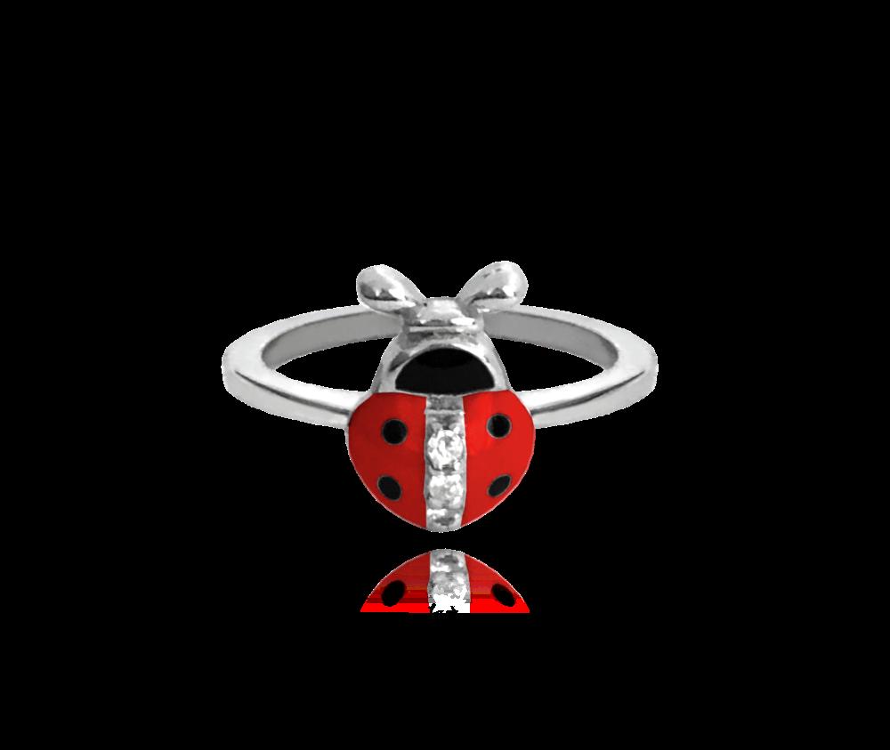 Stříbrný prsten MINET BERUŠKA vykládaná zirkony vel. 52