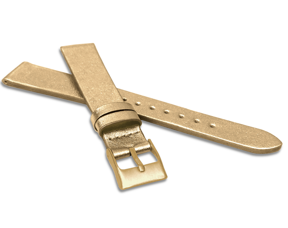 Zlatý řemínek MINET z luxusní kůže Top Grain - 16