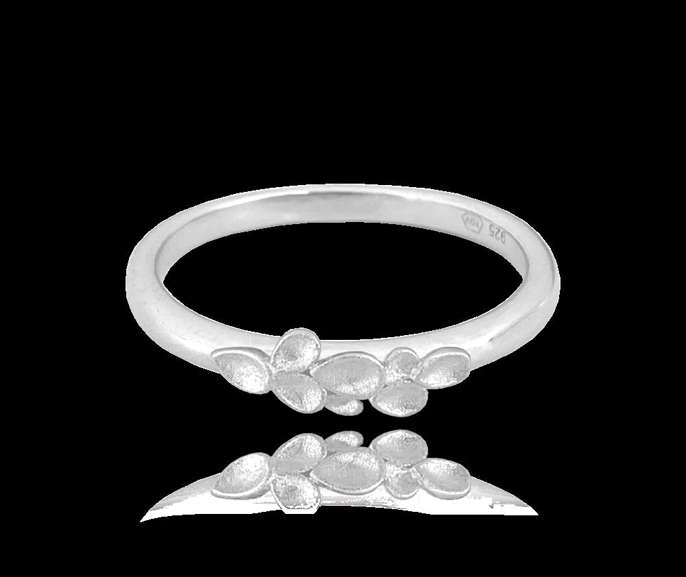 Matný stříbrný prsten MINET EUCALYPTUS vel. 58