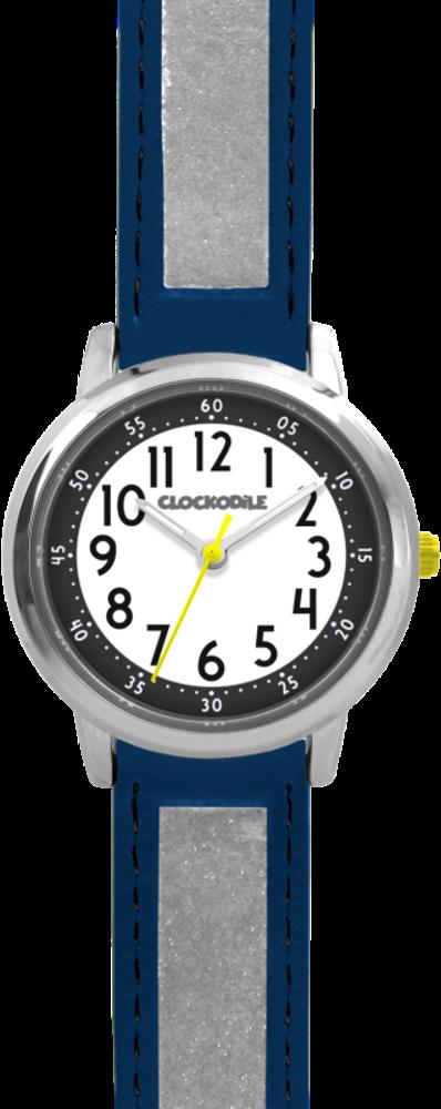 Tmavě modré reflexní dětské hodinky CLOCKODILE REFLEX