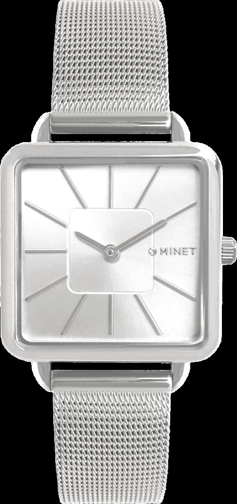 Stříbrné dámské hodinky MINET OXFORD PURE SILVER MESH