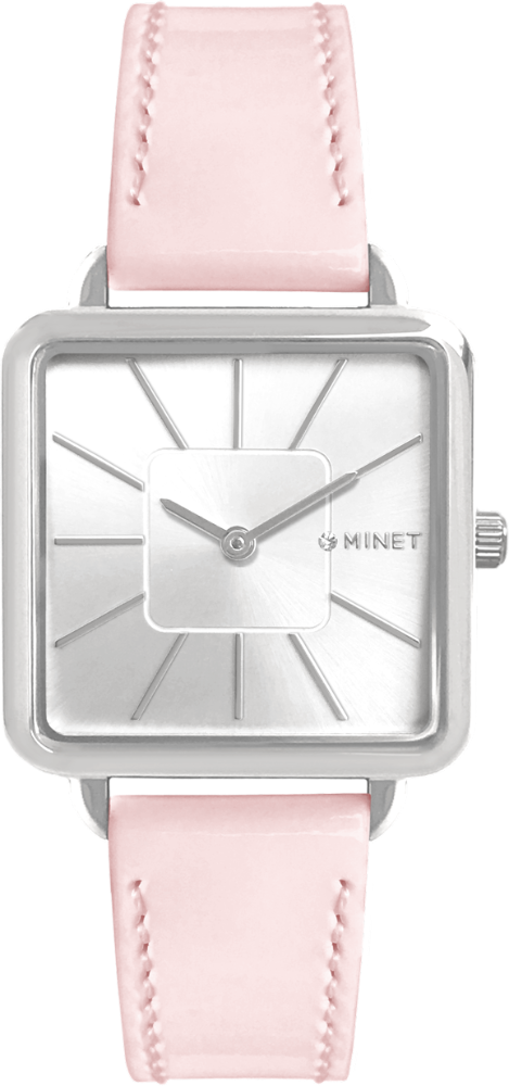 Růžové dámské hodinky MINET OXFORD PASTEL PINK
