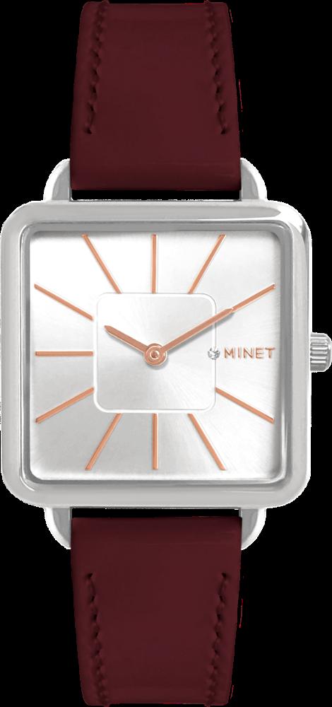 Vínové dámské hodinky MINET OXFORD CLASSY BORDEAUX
