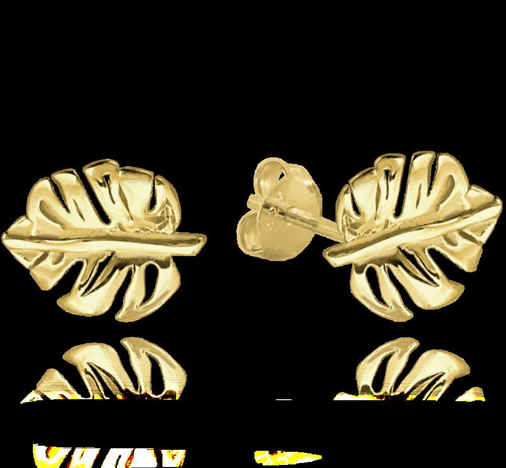 Pozlacené stříbrné náušnice MINET MONSTERA