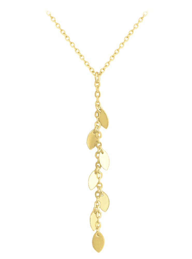 MINET Pozlacený stříbrný náhrdelník MINET s drobnými přívěsky JMAS0112GN45