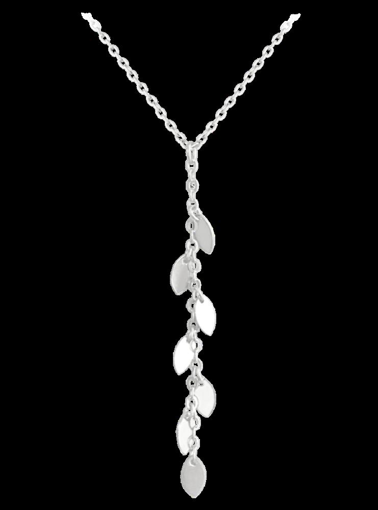 MINET Stříbrný náhrdelník MINET s drobnými přívěsky JMAS0112SN45